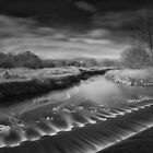 Long exposure of weir by Paul Richards