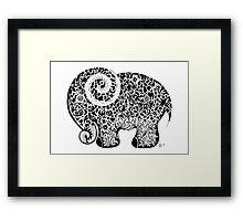 Elephant Doodle Framed Print