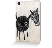 Horsey 2 Greeting Card