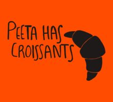 Peeta Has Croissants - Black by 4everYA