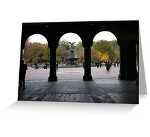 Central Park, Bethesda Fountain, Fall Colors Greeting Card
