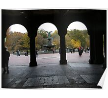 Central Park, Bethesda Fountain, Fall Colors Poster