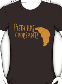 Peeta Has Croissants - Yellow T-Shirt
