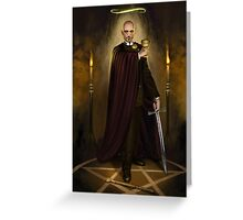 Steampunk Magician Greeting Card