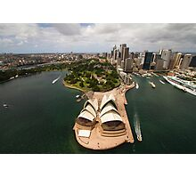 Sydney city from the air with the opera house in the foreground Photographic Print