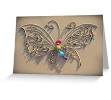 The Crystal Butterfly Greeting Card