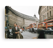 Regent Street Quadrant London 195708270004  Canvas Print