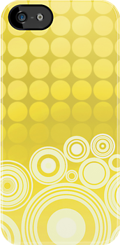 Concentrics - Lemon [iPhone / iPod case] by Damienne Bingham
