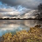 Reflection of clouds in King Lear's Lake by Paul Richards