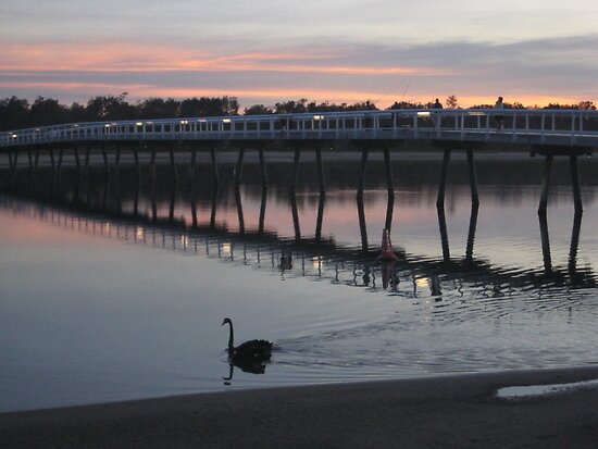 Sunset at Bridge in Lakes Entrance VIC Australia by Sandy1949