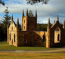 Church Ruins At Port Arthur. Tasmania, Australia. by Ralph de Zilva