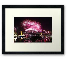 Sydney Fireworks NYE 2012 Framed Print