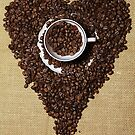 Coffee Beans Heart by Falko Follert