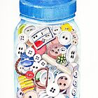 Button Jar by Val Spayne