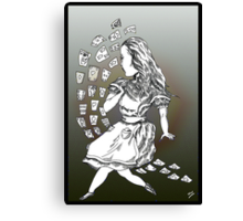 Alice and Cards part two Canvas Print