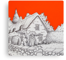 A Thatched Cottage Canvas Print