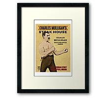Charles Mulligan's Steak House Framed Print