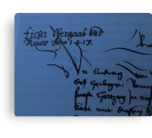 History Book with an old Document - Libro de Historia con un Documento vejo Canvas Print