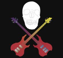 guitar cross bones  by IanByfordArt