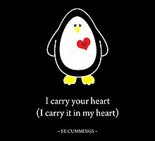 I Carry Your Heart With Me [Greeting Card] by Louise Parton