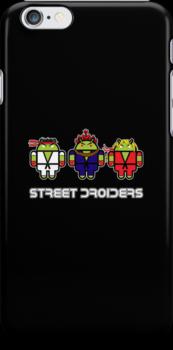 Street Droiders (Ryu, Akuma, Ken) by soulthrow