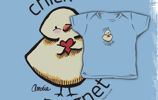 Chick Magnet {light} by offleashart