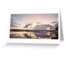 Bay of Reflections - Canada Bay, NSW Greeting Card