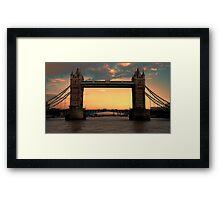 Tower Bridge @ Sunset Framed Print