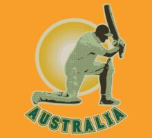 Cricket player batsman batting Australia by patrimonio