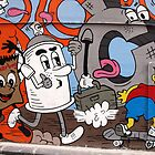 Tuckerbag & Bart Simpson. Hosier Lane. by John Sharp