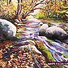 Autumn stream by Dan Wilcox