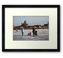 King Winter is Back in Town Framed Print