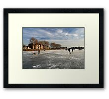 Ice Fun in Hoorn Framed Print