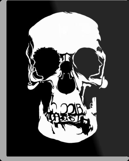 Sherlock: Wall Skull by zerobriant