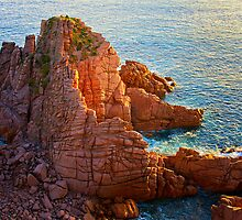Natures Brickwork - Phillip Island by Hans Kawitzki