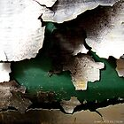 Peeling Paint with a Little Bit of Deep Green by Michele Filoscia