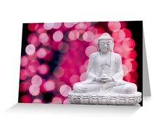 buddha lights (blue red) Greeting Card