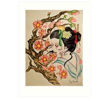 Zombie Geisha 1 Art Print
