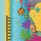 Coral Reef Greeting Card by Janet Antepara