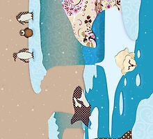 Arctic Wonderland Greeting Card by Janet Antepara