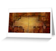 Abstract Wall Oil Painting Greeting Card