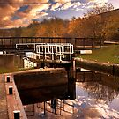 Holmes Lock Reflections by Martin Jones