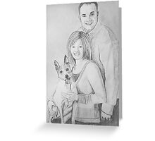 Christie & Daniel portrait drawing Greeting Card