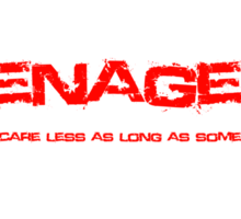 Teenagers Lyrical (My Chemical Romance) Sticker