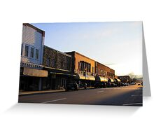 Street That Rides Into The Sunset Greeting Card