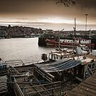 The harbour side at dusk by Dave Milnes