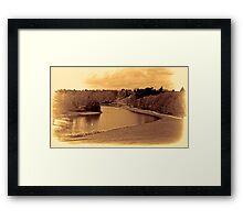 painshill park sepia Framed Print