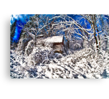 Spooky Haunted Abandoned House Canvas Print