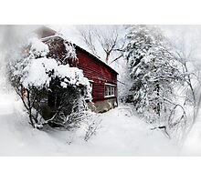 Red Barn Abandoned  Photographic Print