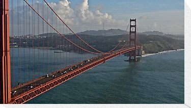 Golden Gate Bridge from Marin to San Francisco by Scott Johnson